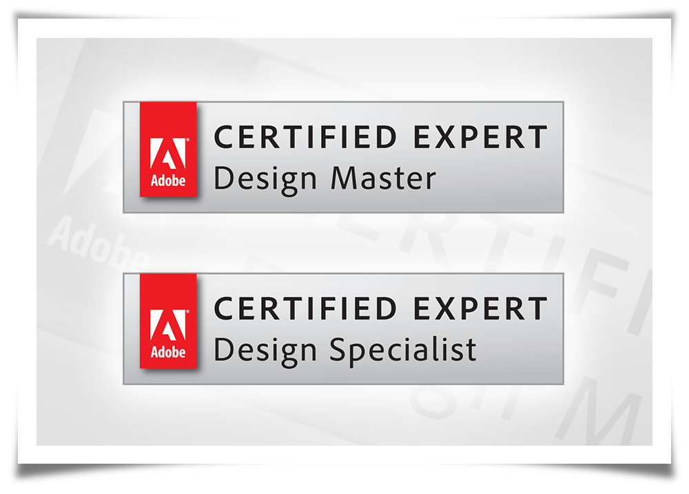 Adobe Certified Expert - Design Master and Design Specialist