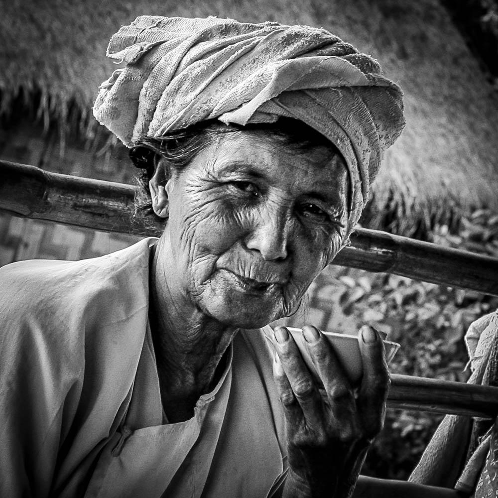 Portfolio - Photography - Cheers. Hiking through a village in Bu